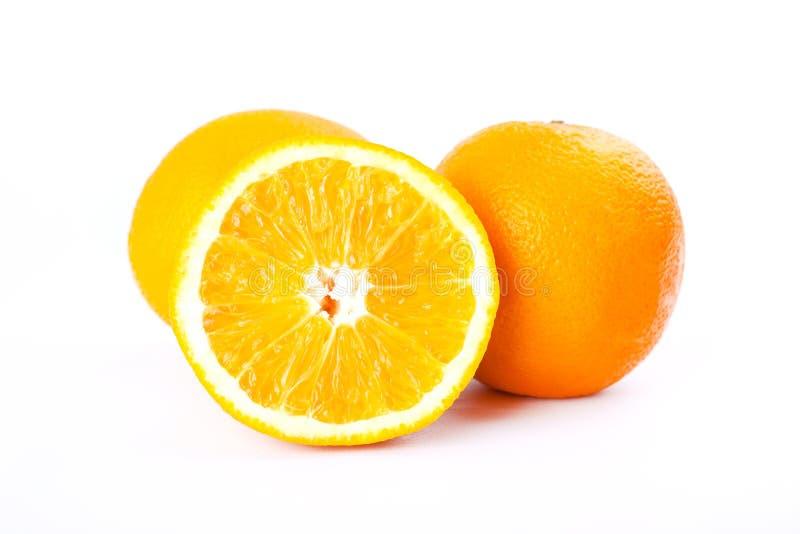 Fruit: citrus-type orange on a white background,juicy orange,sliced juicy orange for making fresh juice stock images