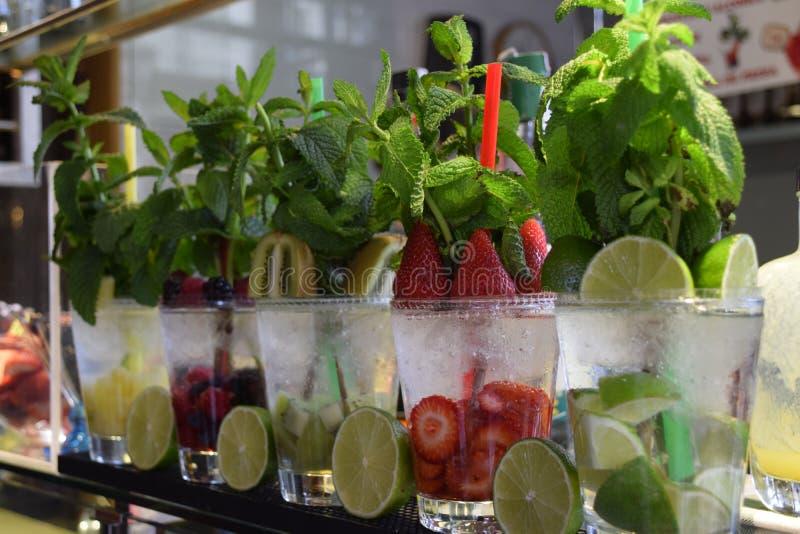 Fruit cocktail royalty-vrije stock afbeeldingen