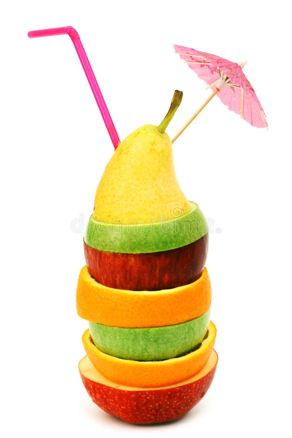 Fruit cocktail concept stock photography