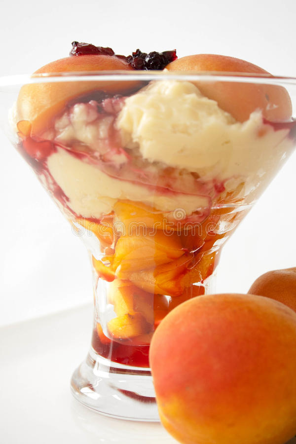 Fruit cocktail dessert stock images