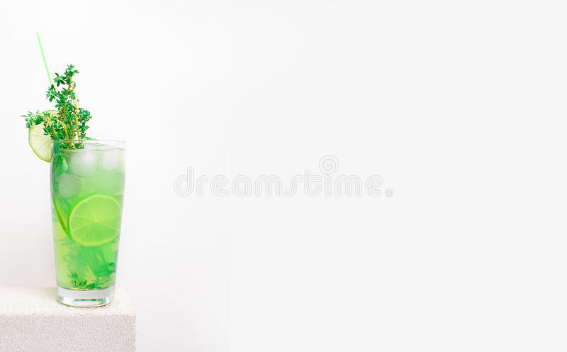 Fruit cold lemonade on a stone table stock photos