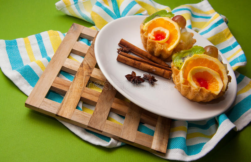Fruit cupcakes royalty-vrije stock foto's