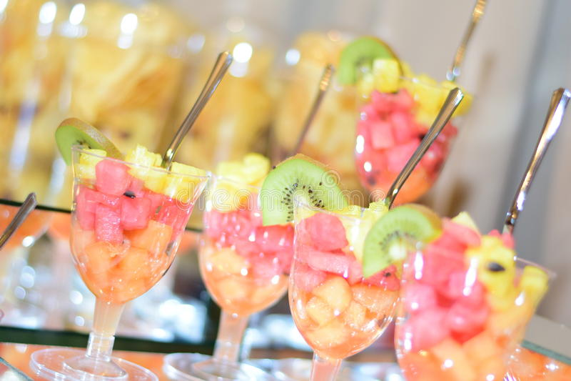 Fruit cups stock photos