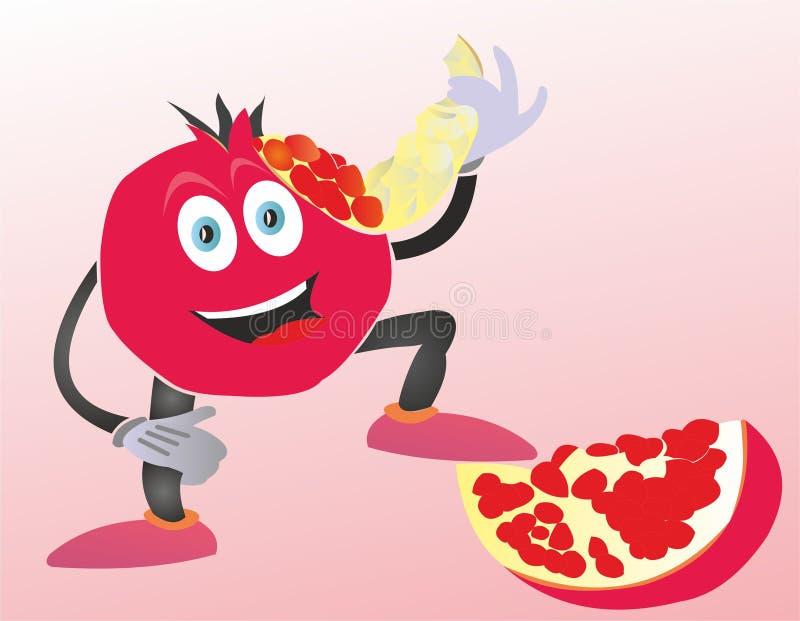 Fruit délicieux de grenat illustration de vecteur