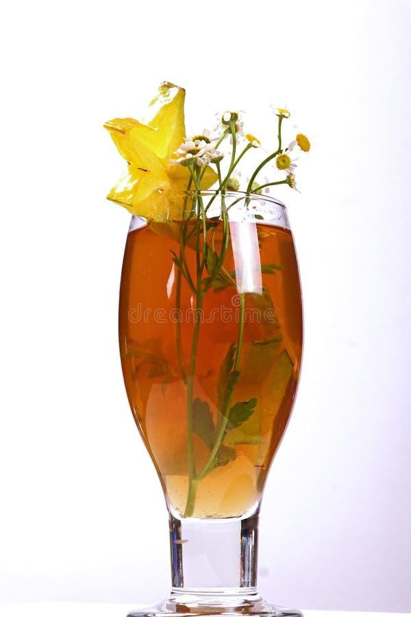 Fruit d'étoile de rafraîchissement de boisson de thé d'été photo stock