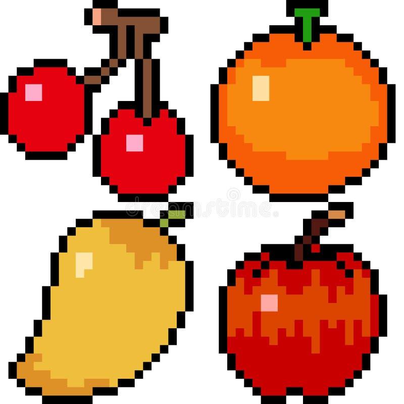 Fruit d'art de pixel de vecteur illustration libre de droits