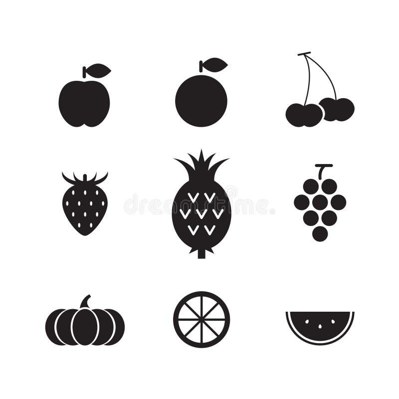 Fruit d'icône, vecteur illustration libre de droits