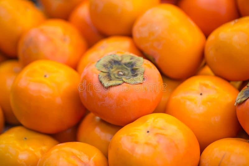 Fruit d'orange de kaki du Japon photographie stock