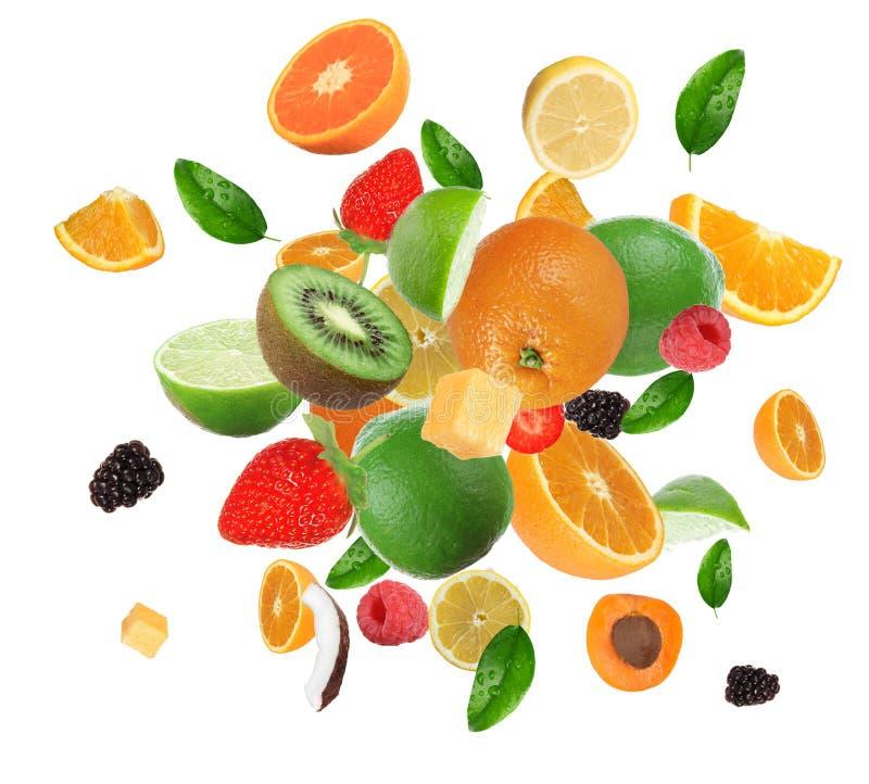 Fruit dans l'explosion images stock
