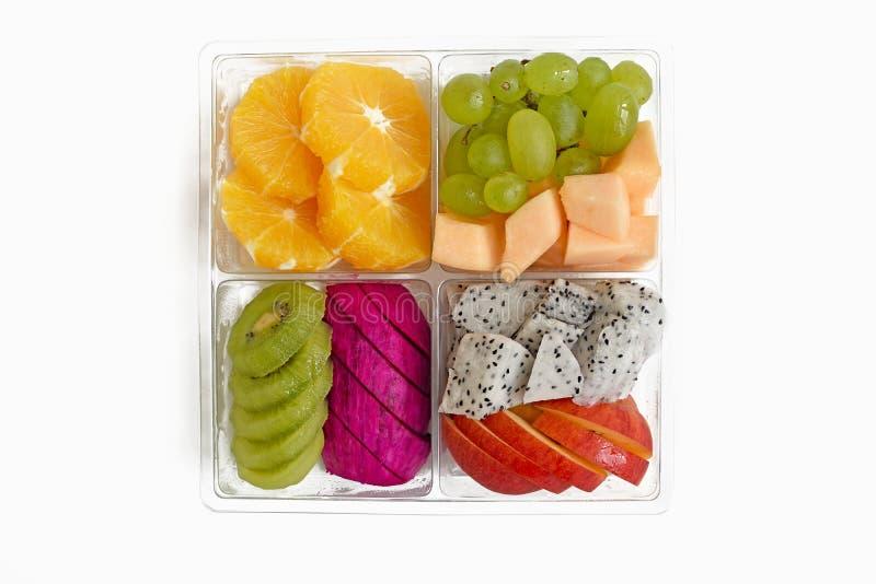 Fruit dans la boîte à emporter photo stock