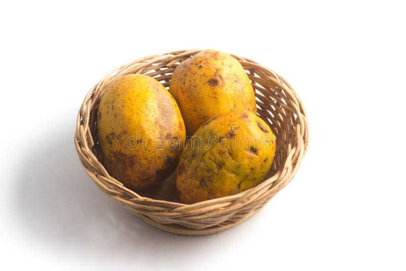 Fruit de Caja-Manga Dulcis de Spondias photographie stock libre de droits