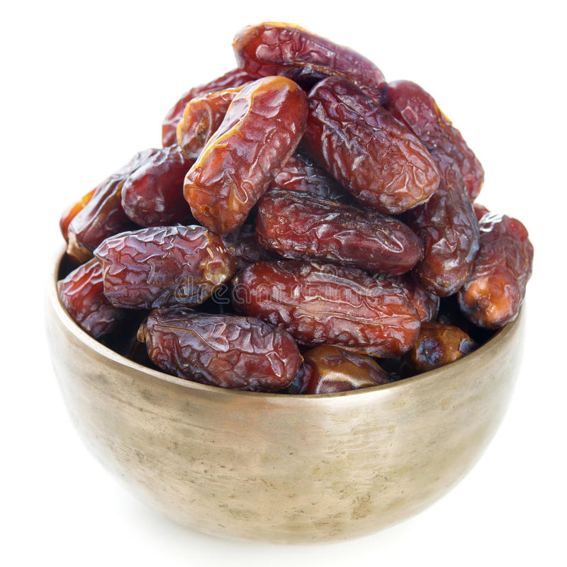 Fruit de dates d'isolement photo stock