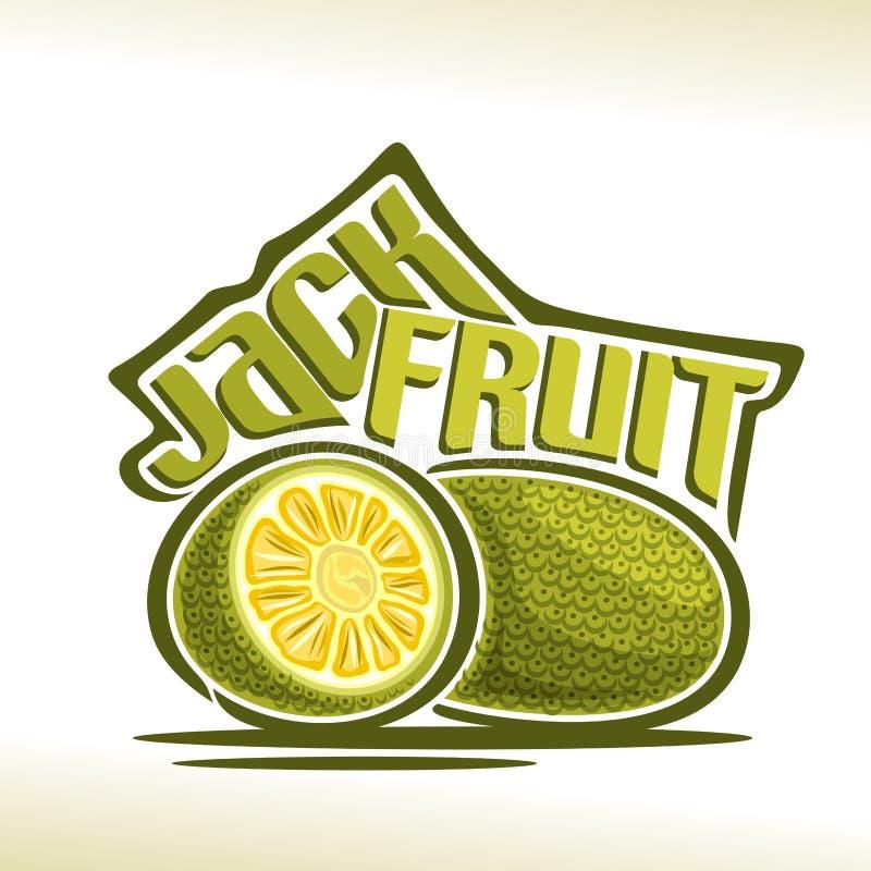 Fruit de jacquier de logo de vecteur illustration stock