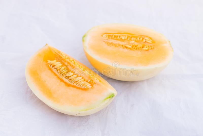 Fruit de melon de cantaloup photos stock