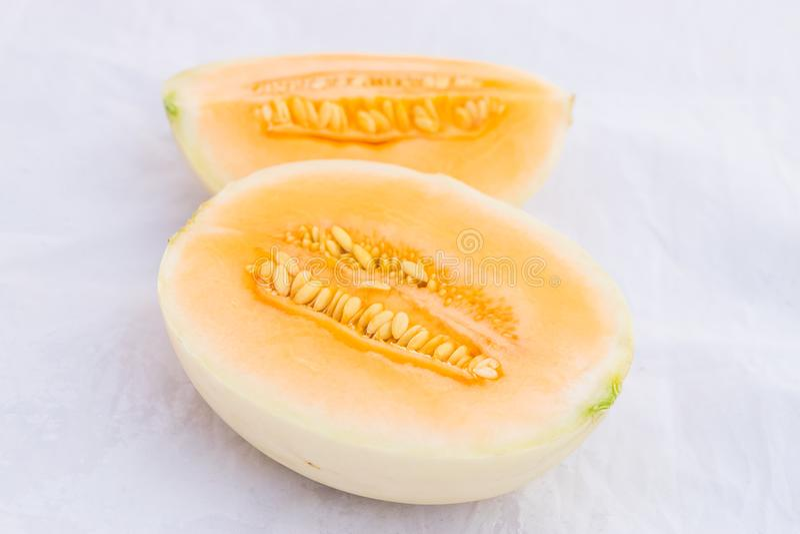 Fruit de melon de cantaloup images libres de droits
