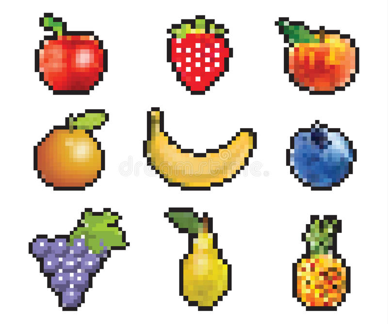 Fruit de Pixelated photo libre de droits