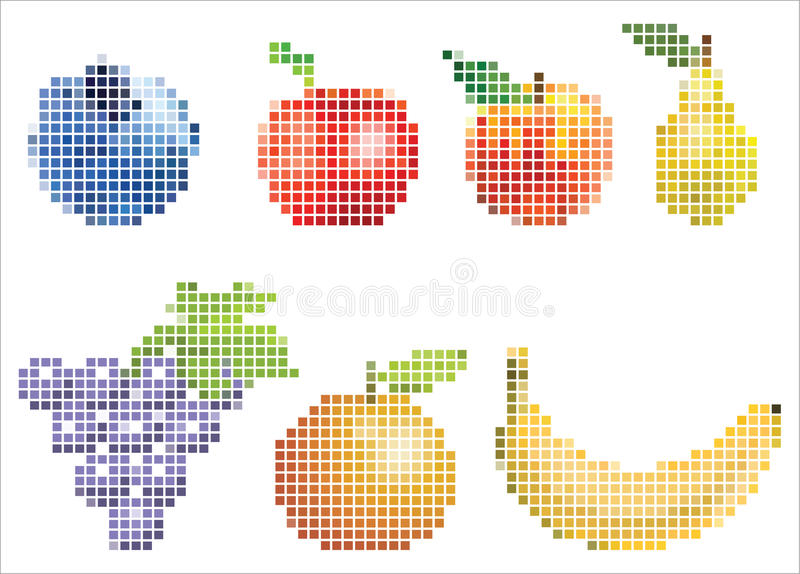 Fruit de Pixelated photo stock