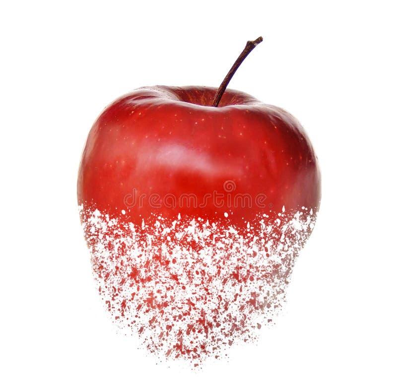 Fruit de pomme déchiré par rouge photo libre de droits