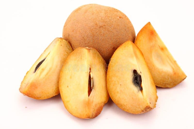 Fruit de prune de sapotille image libre de droits