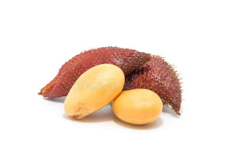 Fruit de Salak, zalacca de Salacca d'isolement sur le fond blanc images libres de droits