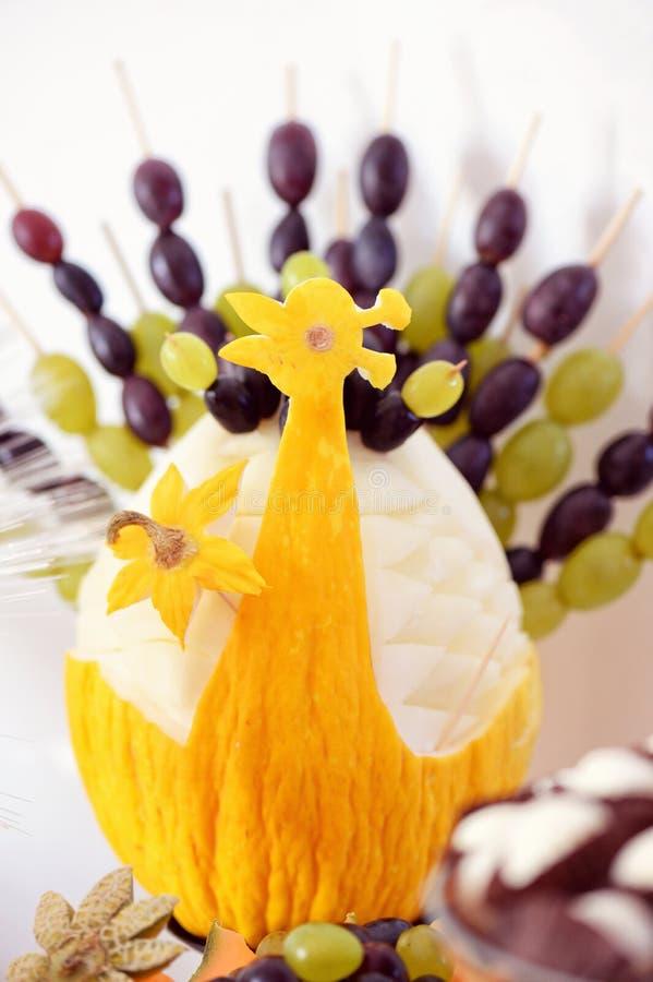 Fruit Decoration At The Wedding Reception Stock Image - Image of ...