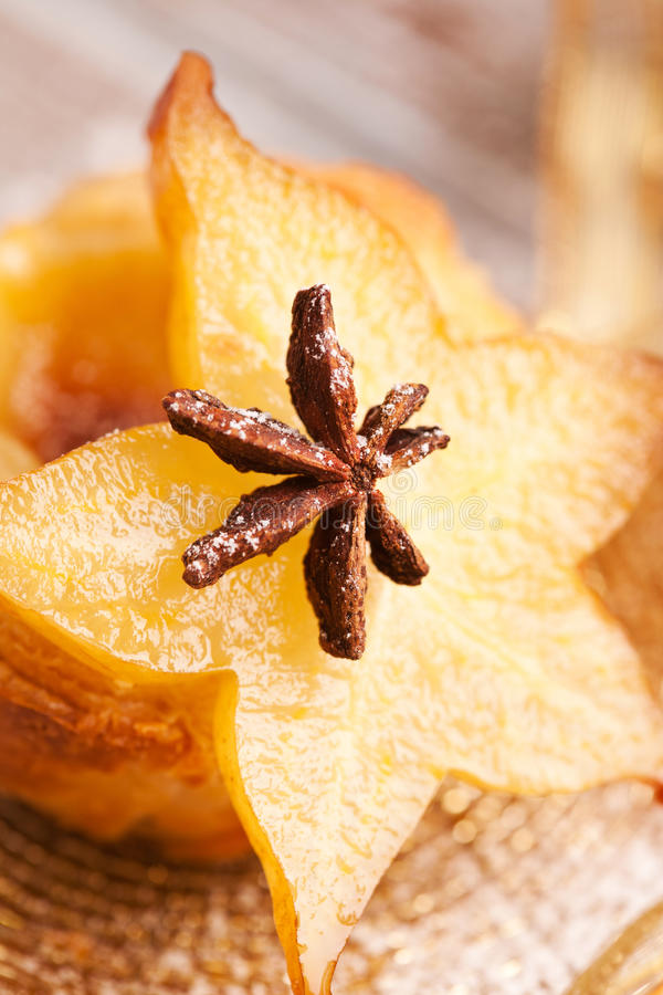 Fruit dessert with anise royalty free stock photo