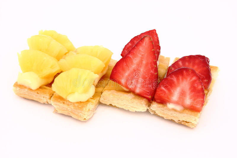 Download Fruit Dessert Of Pineapple And Strawberries Stock Photo - Image: 23203030