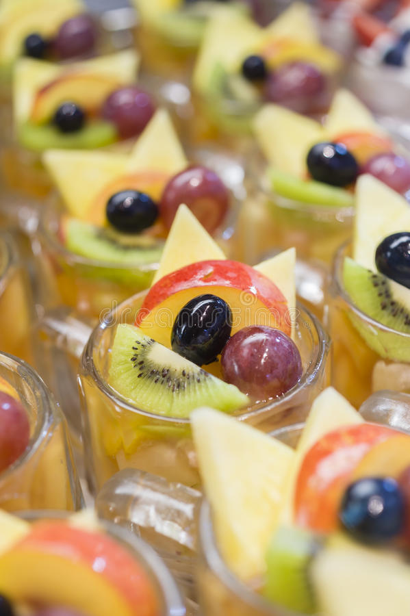 Fruit desserts stock photos