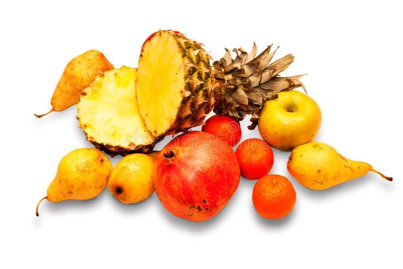 Fruit différent sur un fond blanc photo libre de droits