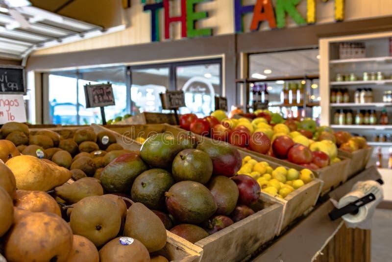 Fruit on Display at Durbin Farms Market stock photo
