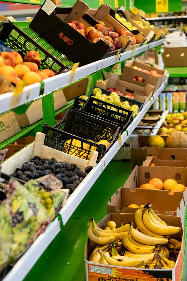 Fruit on display for sale.  royalty free stock photos