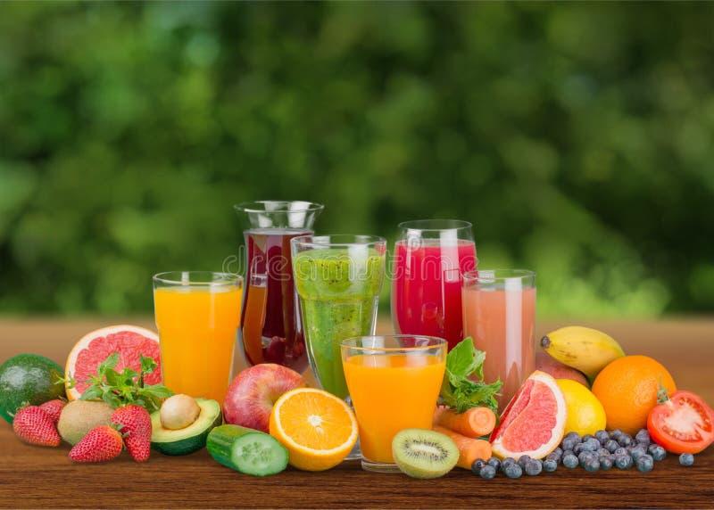 Fruit drinks royalty free stock photo