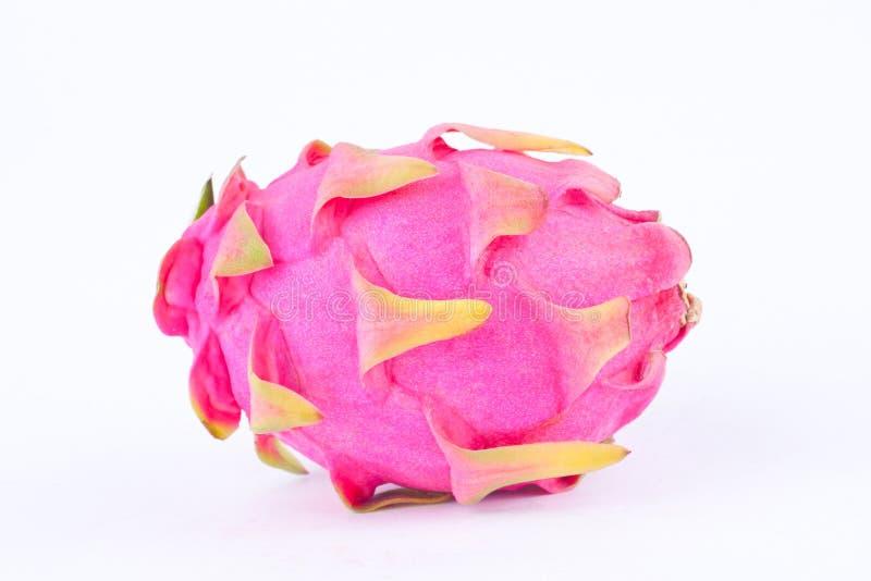 Fruit du dragon organique de dessert et x28 ; dragonfruit& x29 ; ou pitaya sur la nourriture saine de fruit de fond blanc d'isole image libre de droits