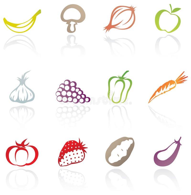Fruit en groenten stock illustratie