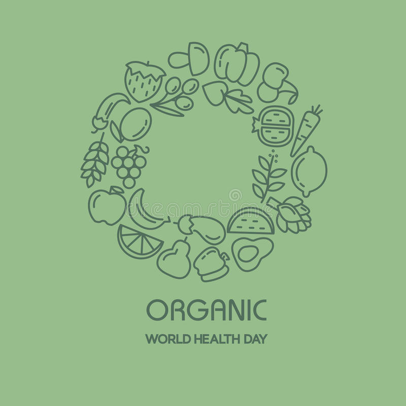 Fruit en groenten achtergrondillustratie vector illustratie