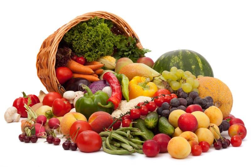 Fruit en plantaardig assortiment stock foto