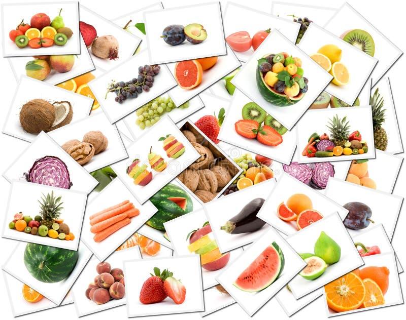 Fruit en plantaardige achtergrond stock fotografie