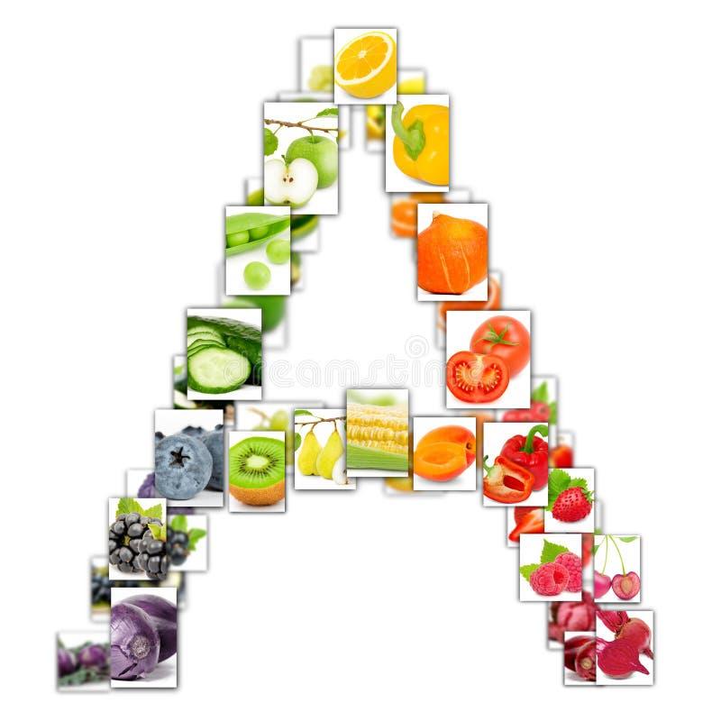 Fruit en Plantaardige Brief royalty-vrije illustratie