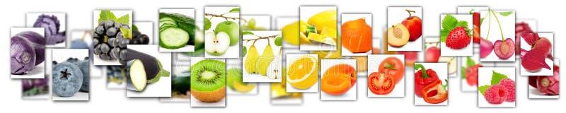 fruit en plantaardige mengeling stock illustratie