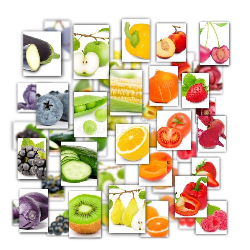 fruit en plantaardige mengeling royalty-vrije illustratie