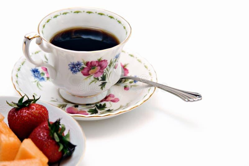 Fruit et thé photographie stock