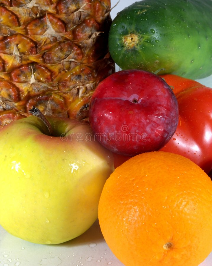 Fruit et veg photographie stock