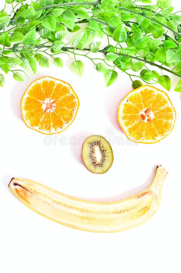 Fruit face stock photo