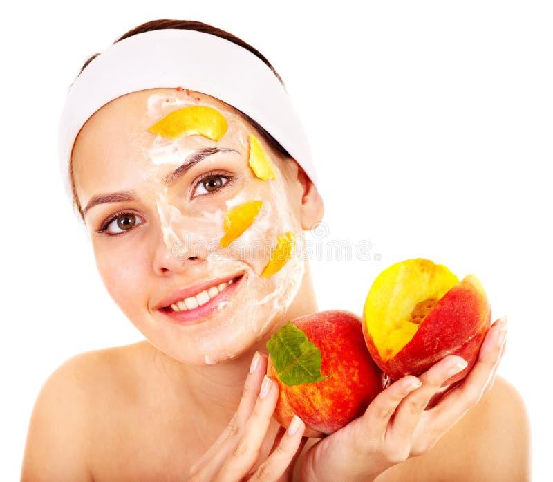Fruit facial masks . royalty free stock photos