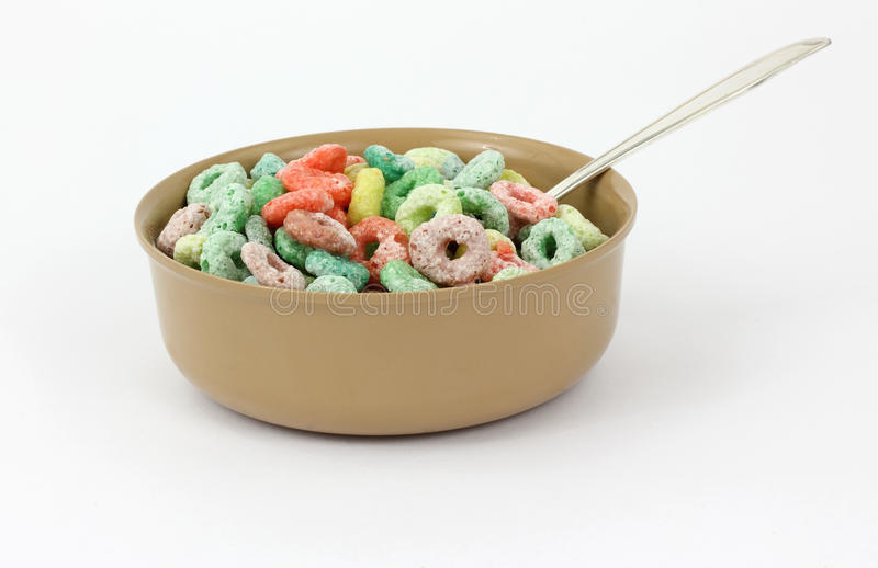 Download Fruit Flavored Cereal Spoon Stock Photo - Image: 15032658