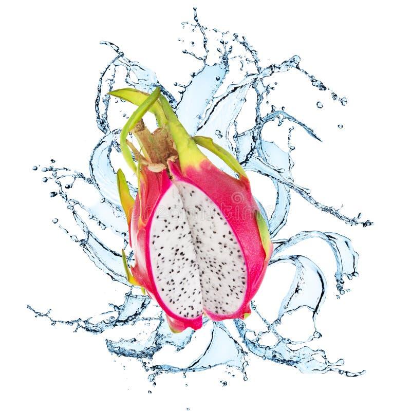 Fruit frais avec l'éclaboussure de l'eau illustration libre de droits