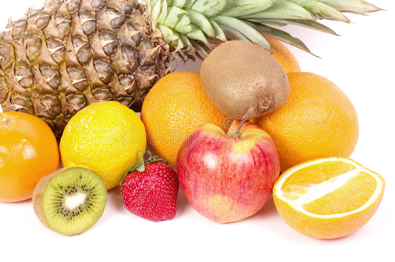 Fruit frais avec la vitamine photographie stock