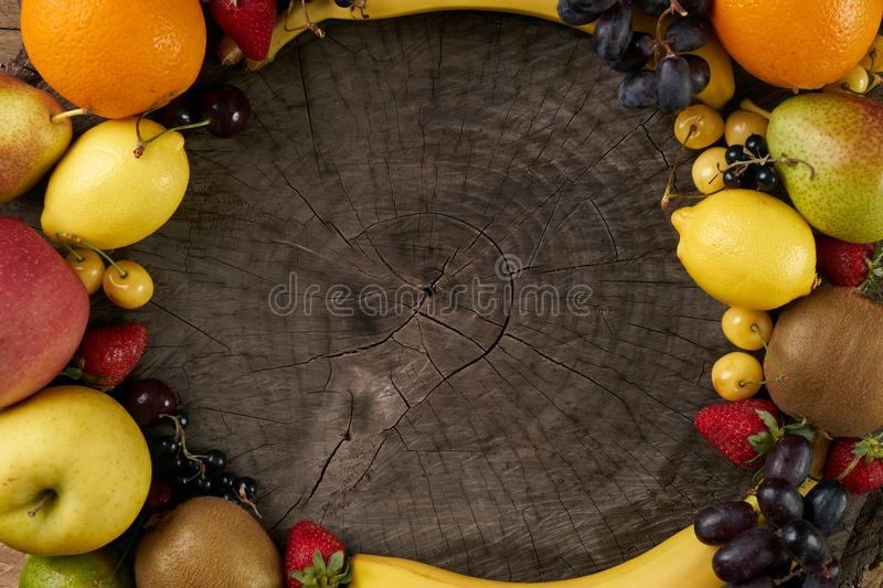 Fruit frame royalty free stock images