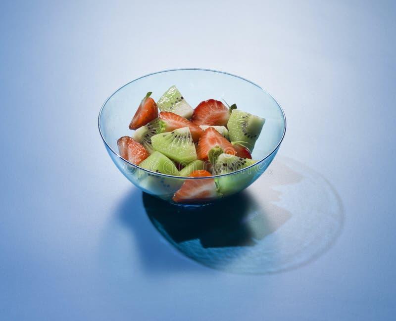 Fruit fresh mixed tropical fruit salad. royalty free stock photos