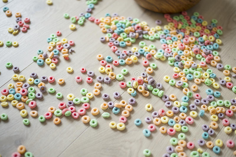 Fruit (froot) loops royalty free stock photo